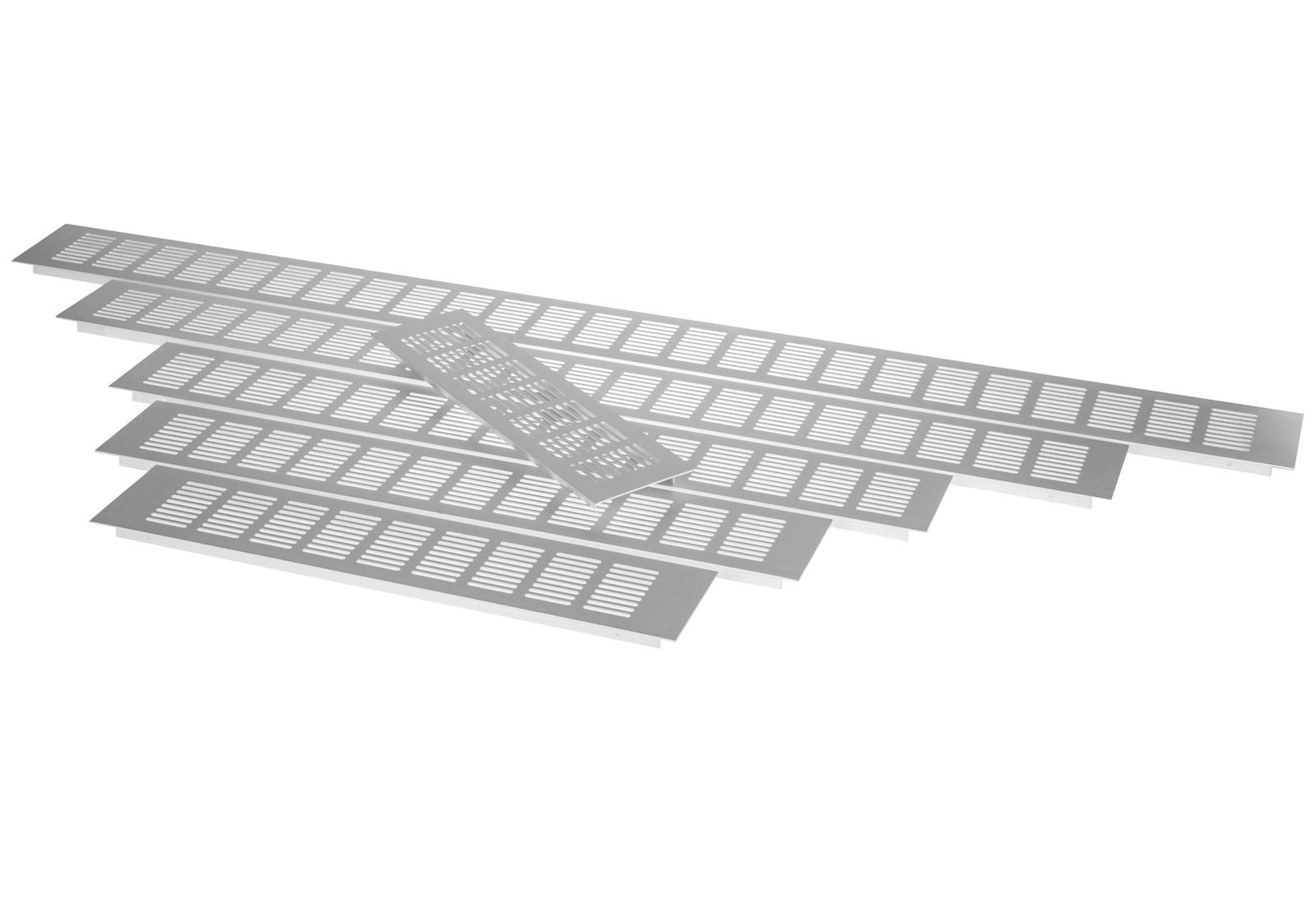 Lüftungsgitter Lochblech 225x80 mm Aluminium Stegblech Heizkörper-Gitter Zuluft